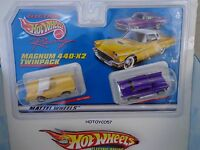 Mattel / Tyco Twin Pack 57 T-bird & 57 Chevy H O Slot Cars
