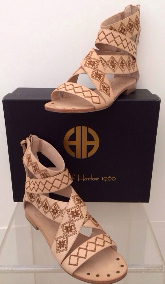House of Harlow 1960 1960 1960 for Free People STEFFIE DUTCH SANDAL Gladiator Natural 7.5  global distribution