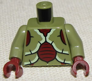 LEGO-NEW-CHIMA-CROC-CRAWLEY-MONSTER-MINIFIGURE-TORSO-BODY-DARK-RED-HANDS