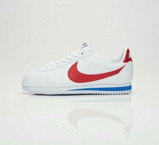 NIKE WOMEN'S CORTEZ LEATHER WHITE VARSITY RED VARSITY ROYAL 807471-103 807471-103 807471-103  Size 8.5 97b153