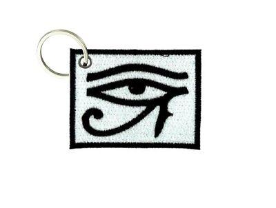 Inteligente Portachiave Chiavi Chiave Ricamo Toppa Horus Morale Occhio Egitto Franc. Macon