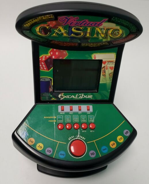 Excalibur 2-IN-1 VIRTUAL CASINO Tabletop Game Video Poker and Blackjack for sale online
