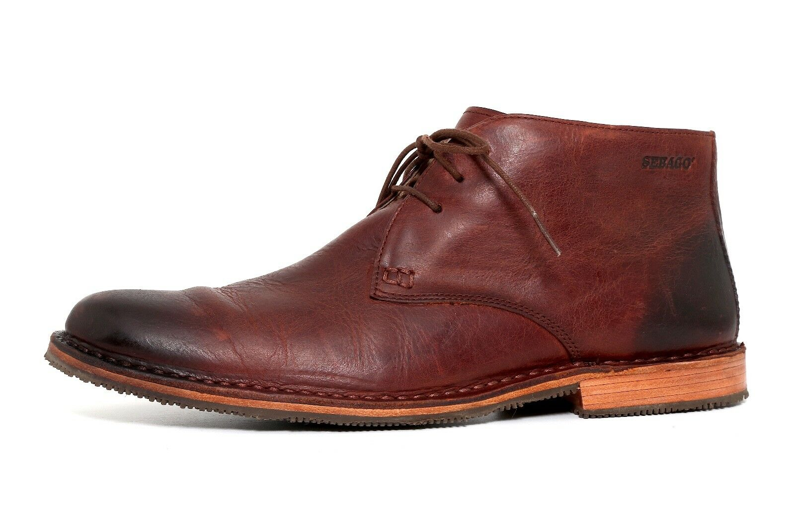 Sebago Dark Brown Leather Men Oxford Size 10D 2011