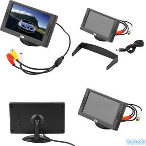 4 3 zoll lcd tft auto kfz farb monitor universal display. Black Bedroom Furniture Sets. Home Design Ideas