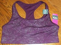 Size M Burgundy & Gray Reversible Mta Sport Sports Bra Medium Impact