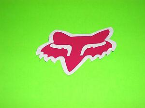 FOX RACING MOTOCROSS QUAD BMX SKATEBOARD WAKEBOARD PINK FOX HEAD STICKERS DECALS