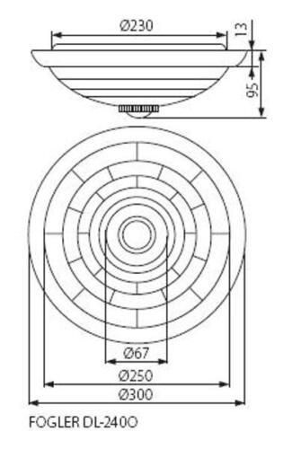 Kanlux 360 PIR Détecteur de mouvement mur plafond couloir Plafonnier Chambre à coucher