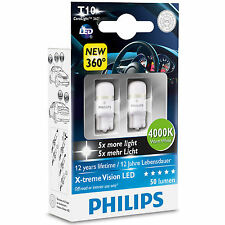 Philips Xtreme Vision 360 LED W5W T10 510 4000K Warm White Bulbs Twin Pack