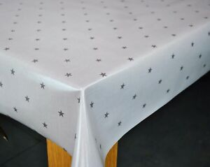 Image Is Loading Clarke And Clarke Etoile Stars Grey Cotton PVC