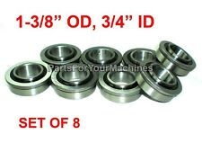 "QTY. 8, FLANGE BEARINGS 1-3/8"" OD, 3/4"" ID, GO KARTS, BUFFERS, CARTS, LAWNMOWERS"