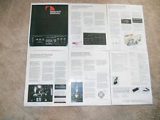 Nakamichi ZX-9 Ultimate Cassette Brochure 6 pages, Specs, Info, Articles
