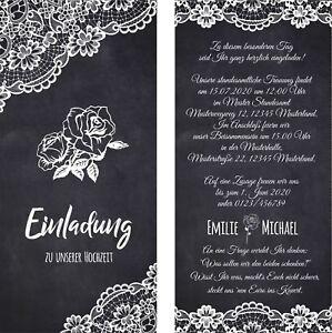 Einladungskarten Hochzeit Hochzeitskarten Vintage Schwarz Weiss