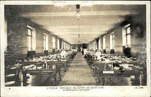 Militaerschule-Saint-Cyr-Bretagne-CPA-Militaire-AK-1920-Le-Refectoire-Canrobert