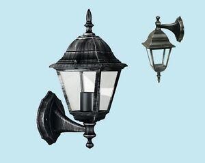 Lanterna applique arkadia con braccio da esterno in alluminio
