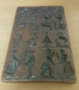 Details About Antique German Springerle Wax Mold Featuring 20 Motifs For Springerle Cookies