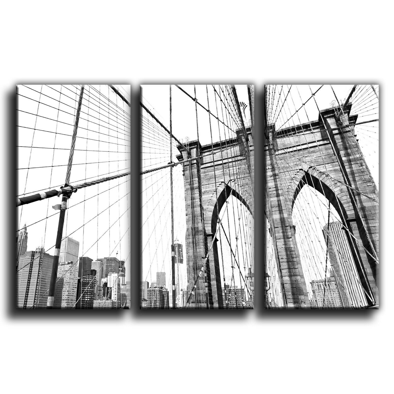 New New New york vintage brooklyn bridge treble toile murale art photo print 32 f88c5e