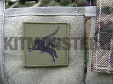 British Army VCRO backed Pegasus Airborne patch badge OG subdued 16AA 6x6cm