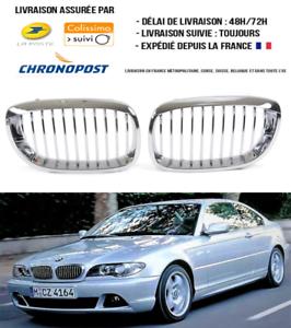 2 GRILLE DE CALANDRE CARBONE BMW SERIE 3 E46 COUPE ET CABRIOLET PHASE 1 99 A 03