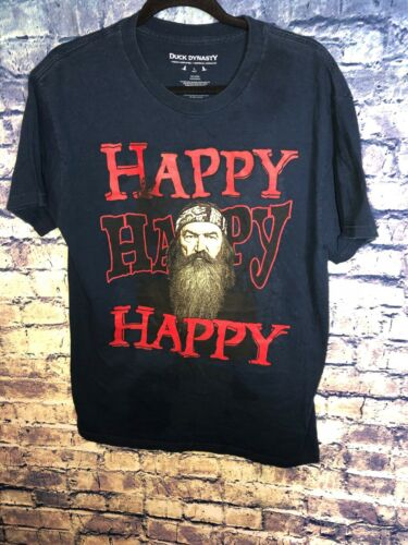 Duck Dynasty BLACK happy happy happy MEN'S T-SHIRT