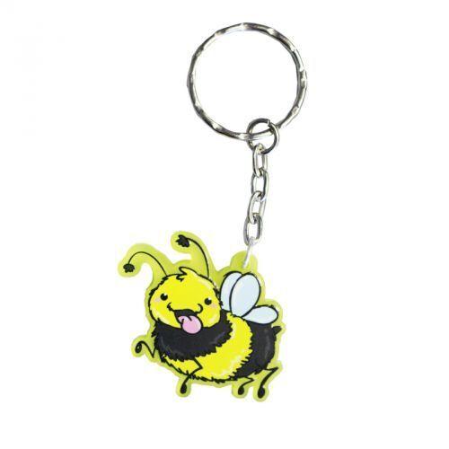 Pummel /& Friends gelb gefrostet - Hummel Schlüsselanhänger