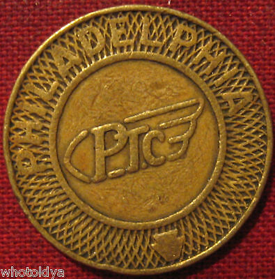 2 Philadelphia PTC Transit Tokens PLEASE LOOK AT PICTURES  whotoldya Lot 41318