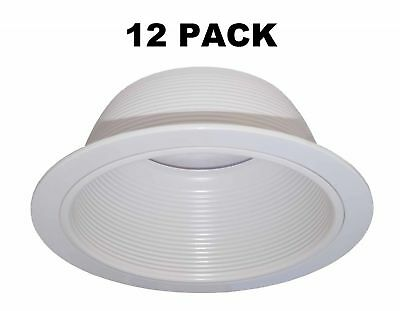 6 Inch White Baffle Recessed Can Light Trim Replaces Halo 310 W Juno 24w Wh 661975001173 Ebay