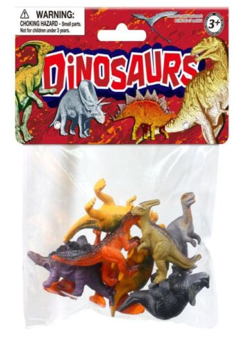 Little Bag of Dinosaurs Figures Model Toys New Plastic 8 pieces
