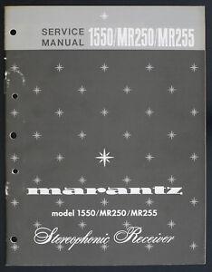 Marantz-Modele-1550-MR250-MR255-Original-Stereophonic-Recepteur-Manuel-de