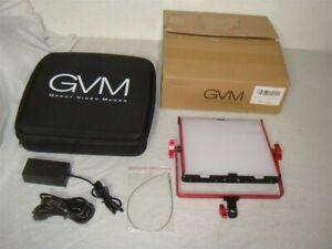Great Video Maker Gvm 520ls R 520 Dimmable Bi Color 3200k 5600k Led Video Light Ebay