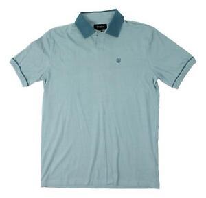 Brixton-Mens-Carlos-S-S-Knit-Polo-Blue-Stone-M-New