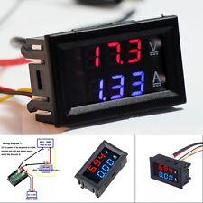 1pc DC 100V 10A Voltmeter Ammeter Blue Red LED Amp Dual Digital Volt Meter Gauge