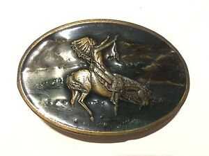 Details about 1977 BERGAMOT BRASS WORKS SISKIYOU BELT BUCKLE NATIVE AMERICAN INDIAN CHIEF P 60