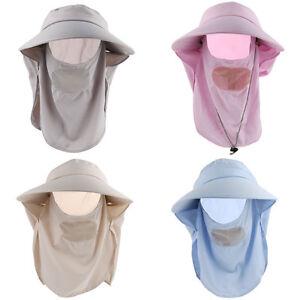 Neck Face Cover Outdoor Anti-UV Folding Cotton Visor Sun Hat Riding Floppy Cap