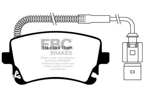 2004 /> 07 EBC Ultimax Rear Brake Pads Audi A8 Quattro 3.7 280 BHP D3//4E