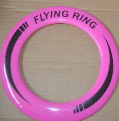"""Neon Flying Ring Disc Frisbee Flyer 10/"""" family fun adults Kids park play"""