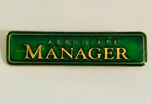 Associate-Manager-Bar-Badge-Pin-Badge-Rare-Vintage-A10