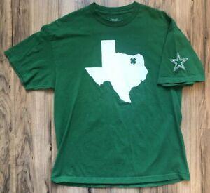 Dallas-Cowboys-Irish-St-Patricks-Pattys-Day-Clover-Texas-Outline-NFL-Mens-XL