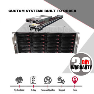 Details about UXS Server SAN 4U NAS Direct Attached Storage 24 Bay 32 Core  FREENAS ZFS UNRAID