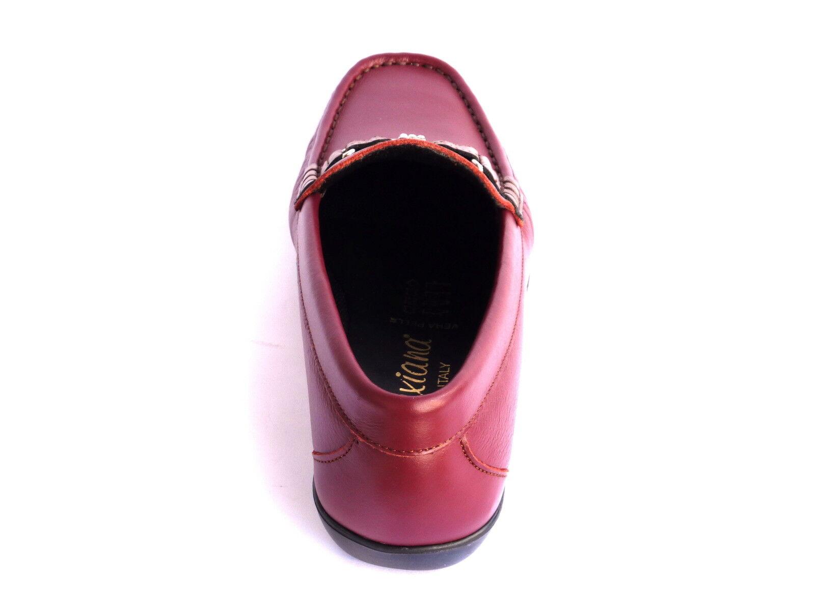 MOCASSINI Schuhe Damens SNEAKERS COMODA MODA COMODA SNEAKERS IN PELLE BORDO' MORBIDISSIME  n. 39 e35463
