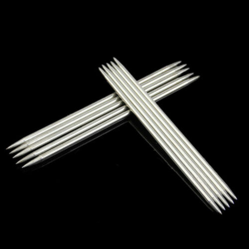 55pcs 11 Sizes Stainless Steel 7.9 20cm Double Pointed Crochet Knitting Needles