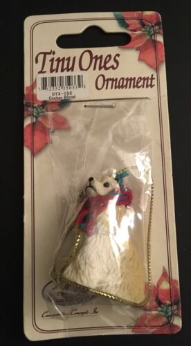 Cocker Spaniel Ornament Blonde Mini Dog Tiny Ones by Conversation Concepts New