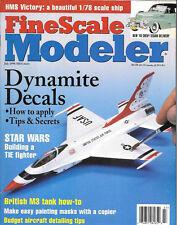 Fine Scale Modeler July 99 Star Wars TIE Fighter Decals British HMS Victory Mask
