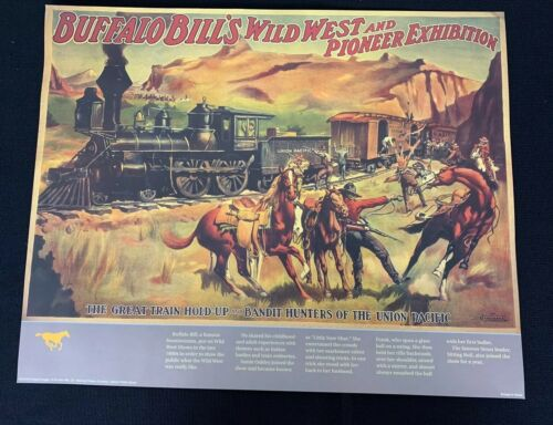 Details about  /VINTAGE REPRODUCTION OF BUFFALO BILL'S WILD WEST /& PIONEER EXHIBITION POSTER