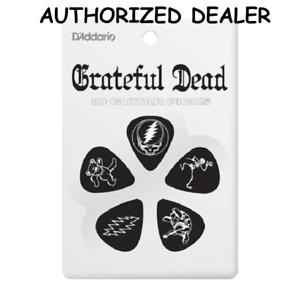 10-Grateful-Dead-Medium-Celluloid-Guitar-Picks-Black-D-039-Addario