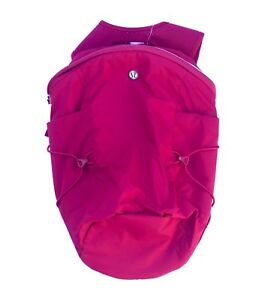 NWT-Lululemon-Run-All-Day-Backpack-II-Ruby-Red-RUBR-Reflective-Day-Pack-NEW