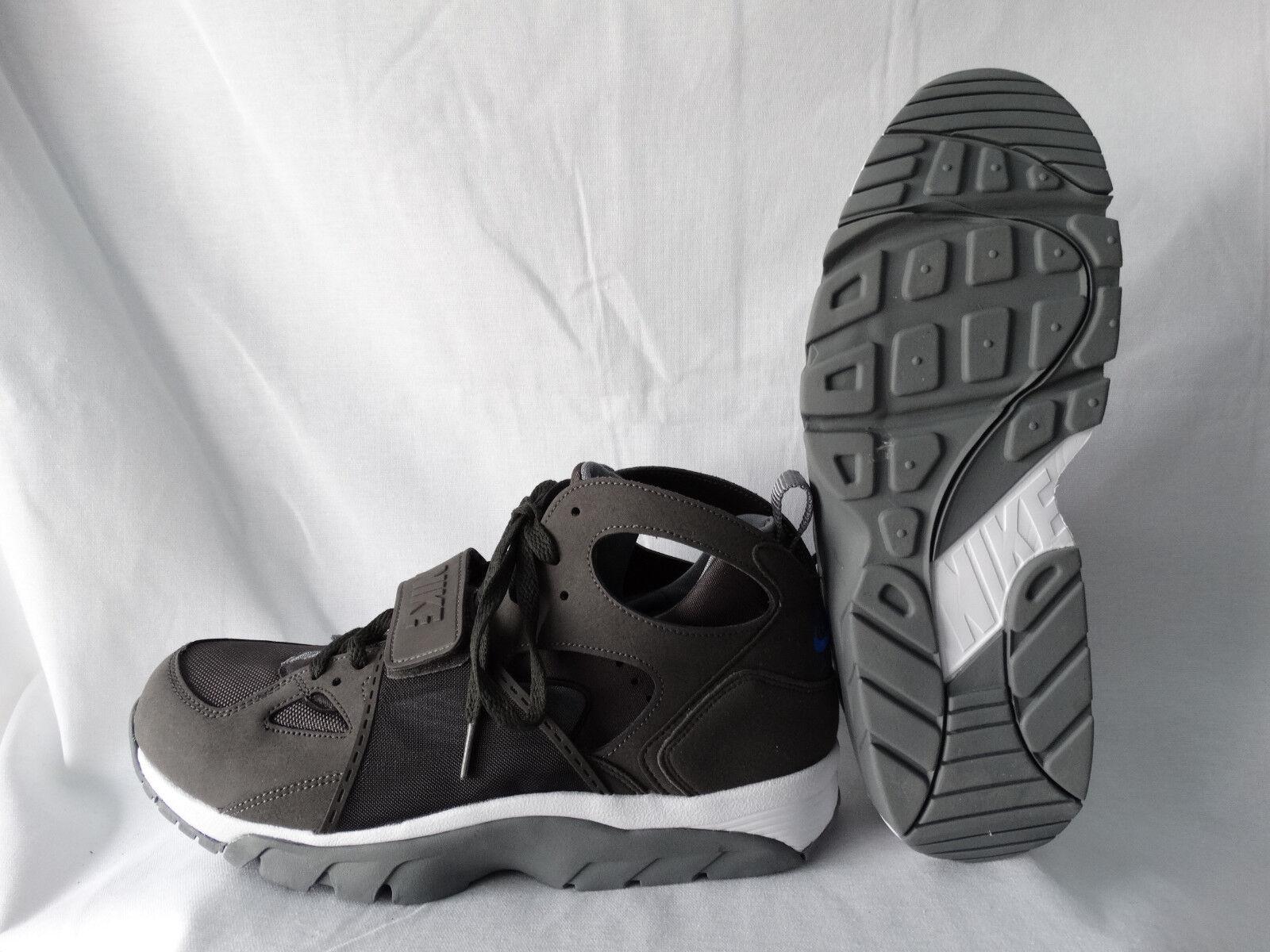 Nike Air Trainer Huarache High Top Sneaker grau-weiß EU 44 US 10