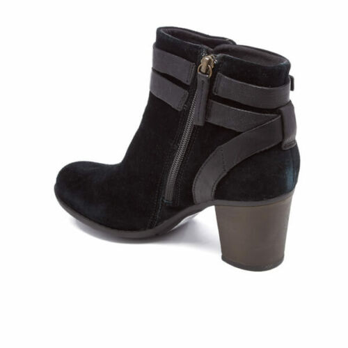 Clarks 35 Size Enfield 43 9 Boots D Ladies Rrp £80 River Black 5 Suede Ankle 3 rrF0azn