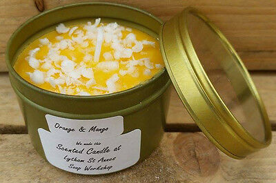 Handmade Scented Candles In Tins - 24 Hour Burn - Highly scented many fragrances