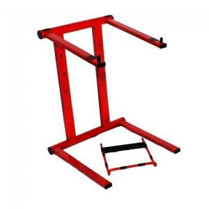 ProX-Foldable-Portable-Laptop-Stand-w-Adjustable-Shelf-RED
