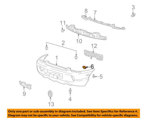 HYUNDAI OEM 06-17 Sonata Front Bumper-Energy Absorber Clip 8659324000
